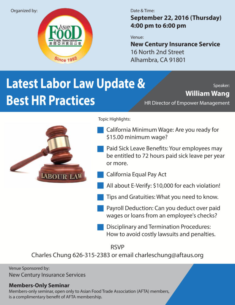 Latest Labor Law Update & Best HR Practices